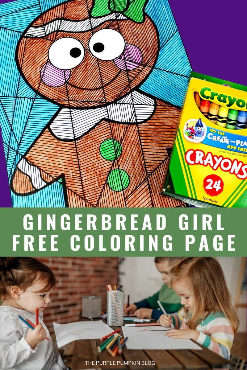 Gingerbread Girl Free Coloring Page