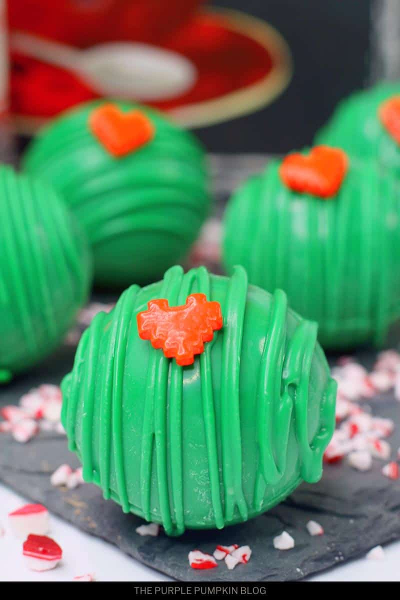 Grinch Mint Hot Chocolate Cocoa Bombs Recipe