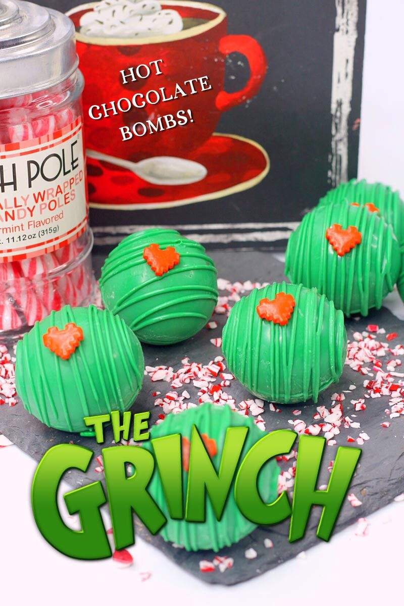 Hot Chocolate Bombs - The Grinch Themed!