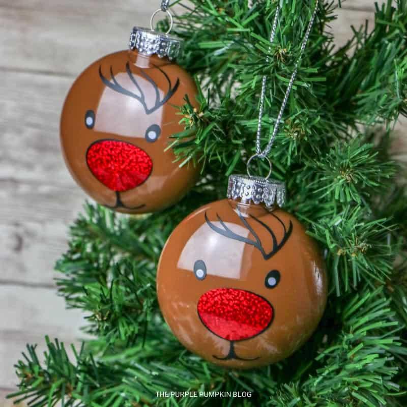Homemade Reindeer Ornaments