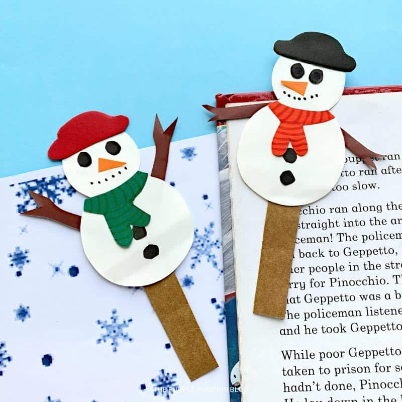 Snowman Bookmarks Craft for Kids