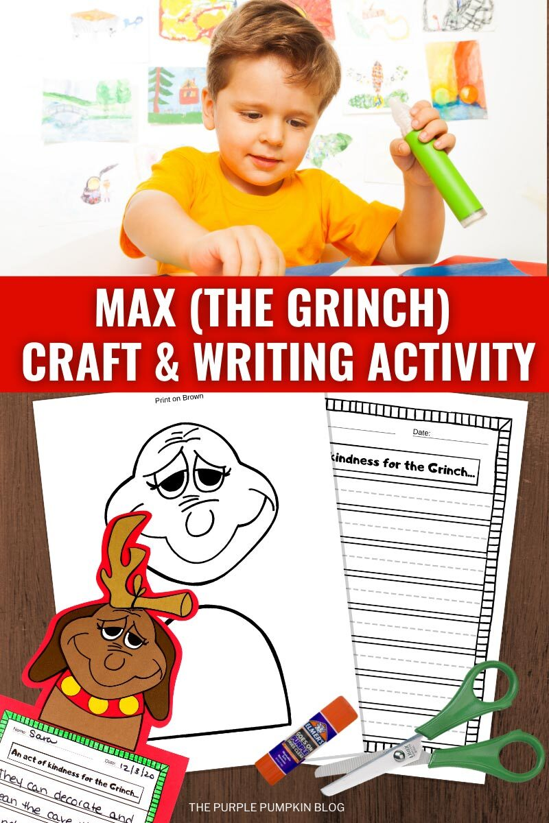 Max (The Grinch) Craft & Writing Activity