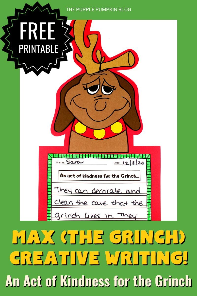 Max (The Grinch) Creative Writing Printable