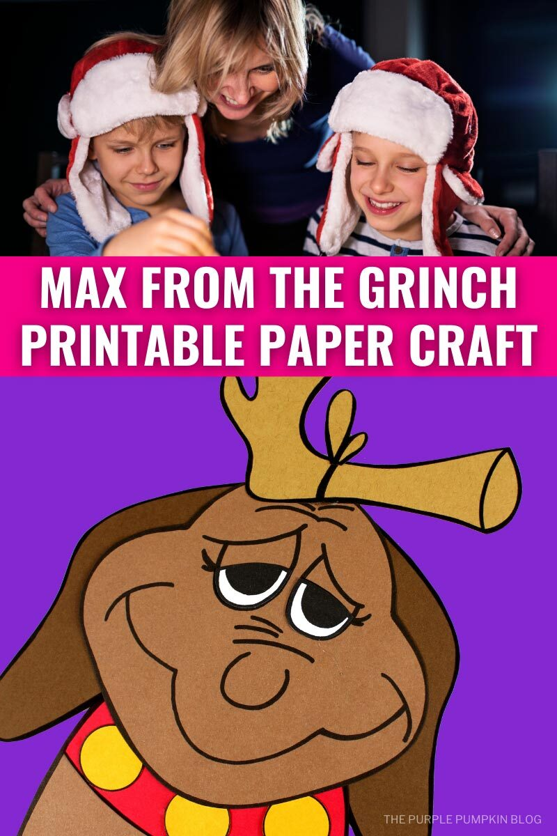 Max from The Grinch Printable Paper Craft