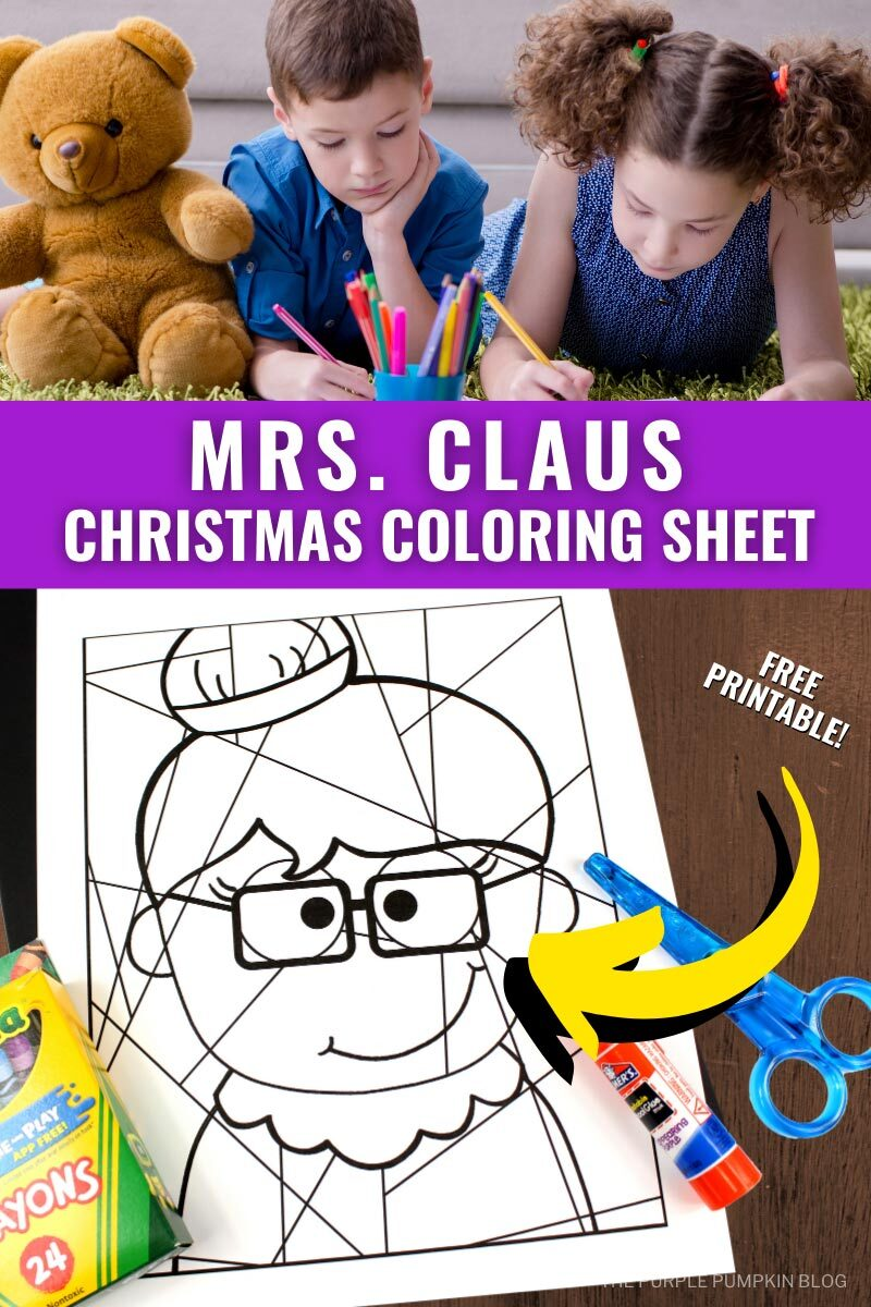 Mrs Claus Christmas Coloring Sheet