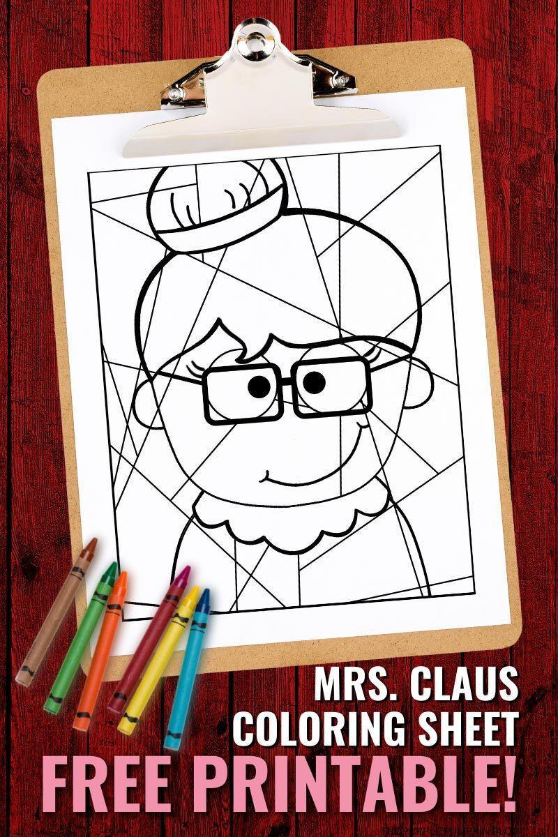 Mrs Claus Coloring Sheet Free Printable
