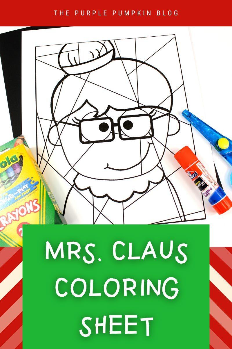 Mrs Claus Coloring Sheet Printable