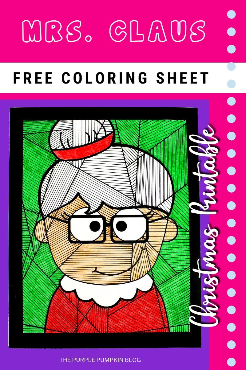 Mrs Claus Free Coloring Sheet Christmas Printable