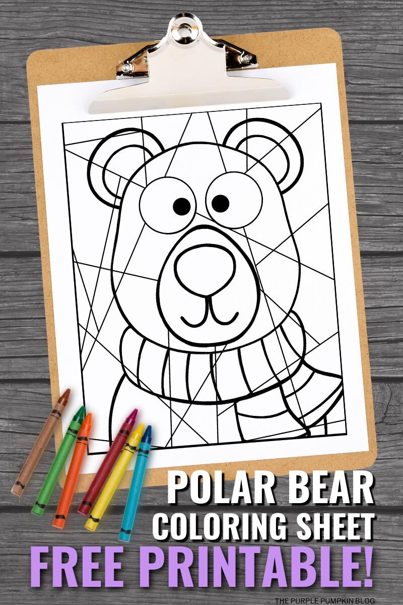Polar Bear Coloring Sheet Free Printable