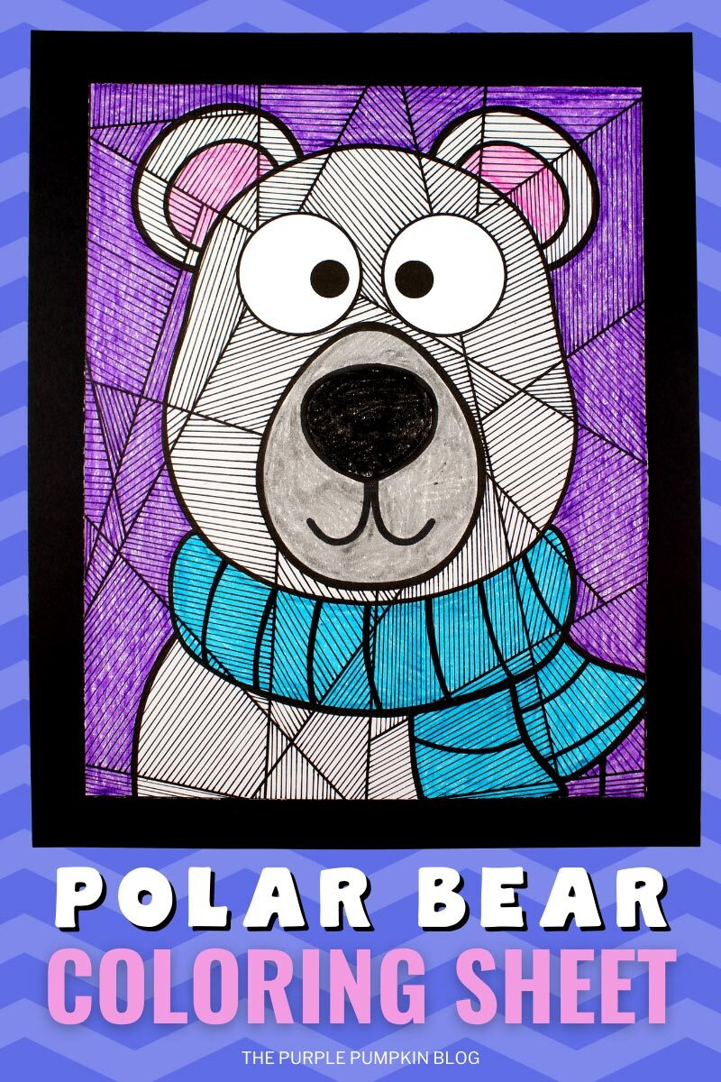 Free Printable Polar Bear Coloring Sheet for Winter Days!