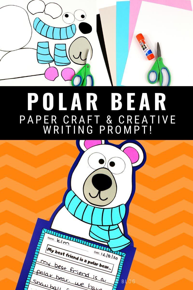Polar Bear Paper Craft & Creative Writing Prompt