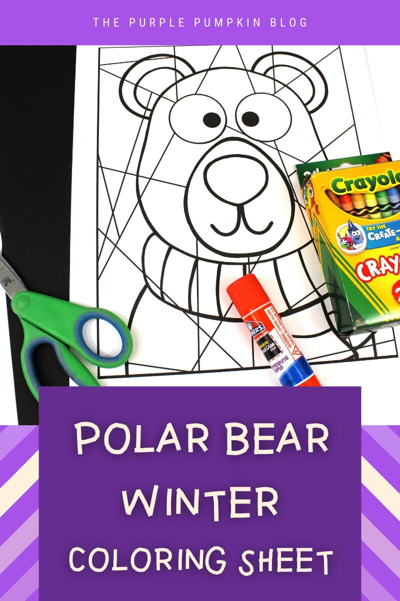 Polar Bear Winter Coloring Sheet
