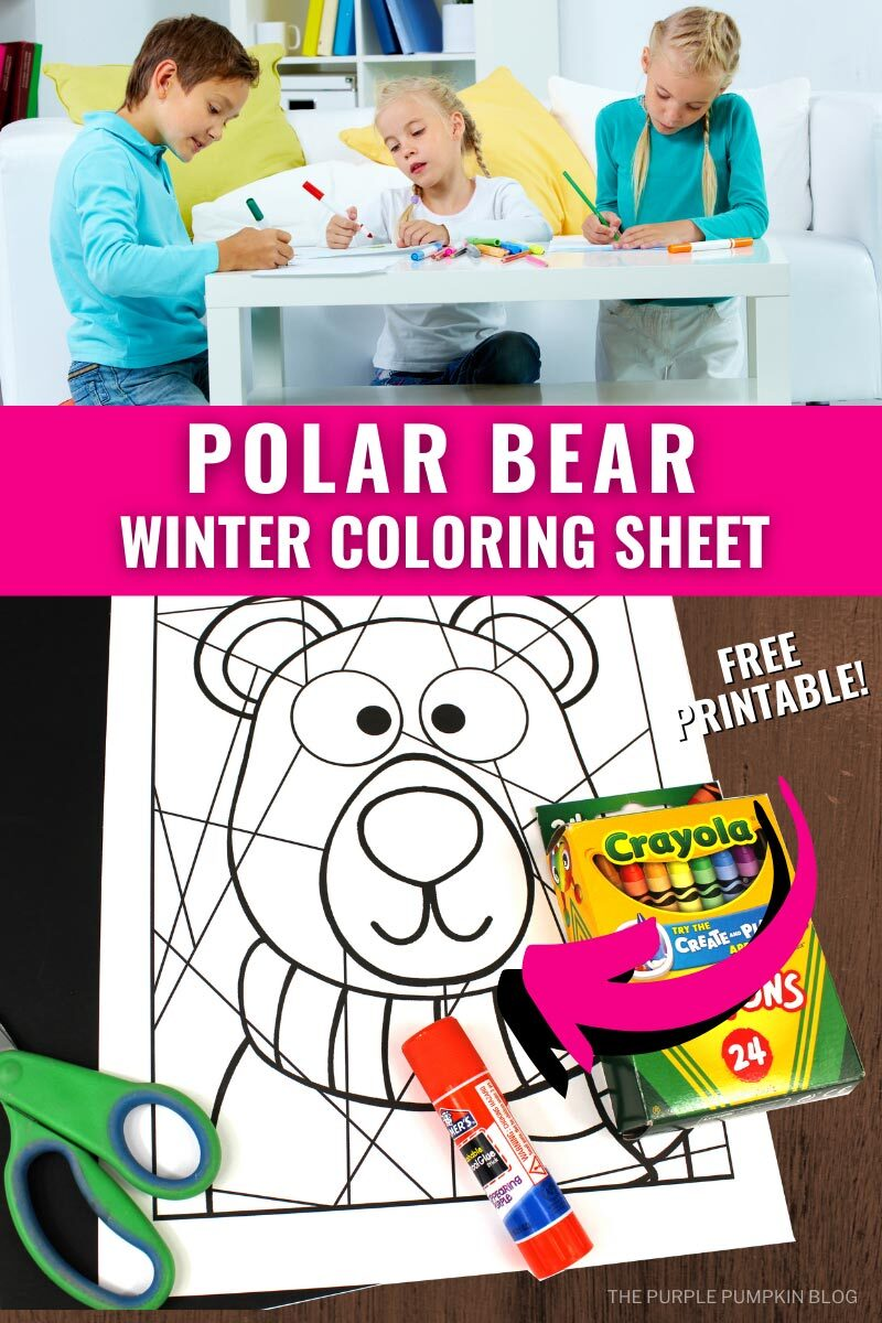 Polar Bear Winter Coloring Sheet to Print