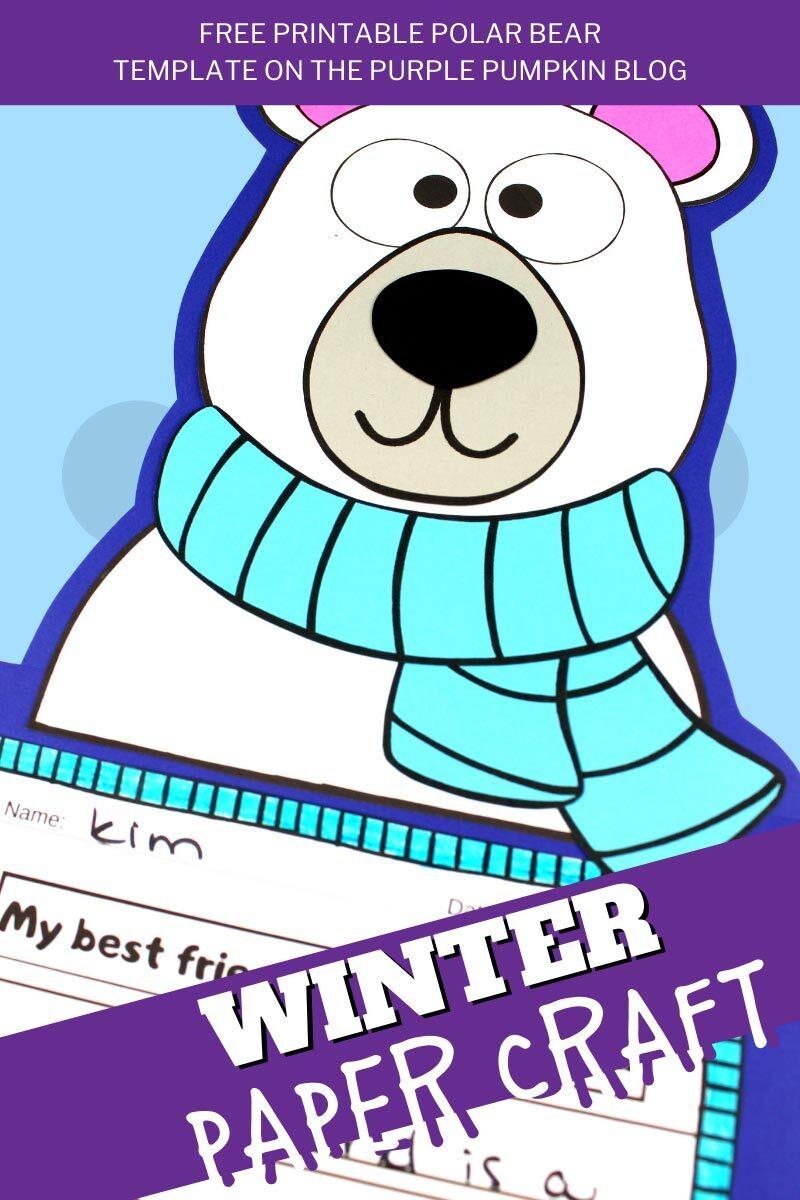 Polar Bear Winter Paper Craft
