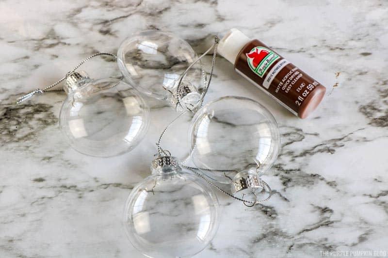 Reindeer Ornament Discs & Brown Paint