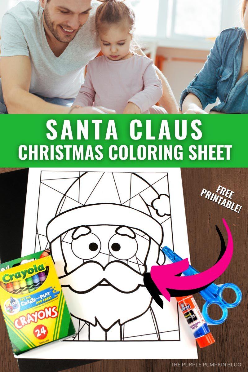 Santa Claus Christmas Coloring Sheet