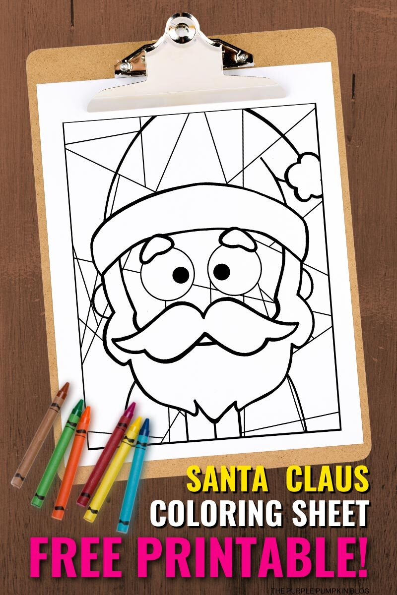 Santa Claus Coloring Sheet Free Printable