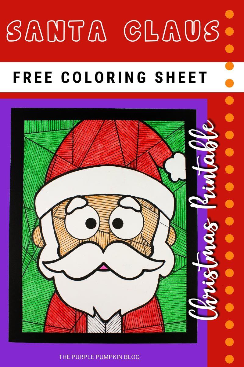 Santa Claus Free Coloring Sheet Christmas Printable