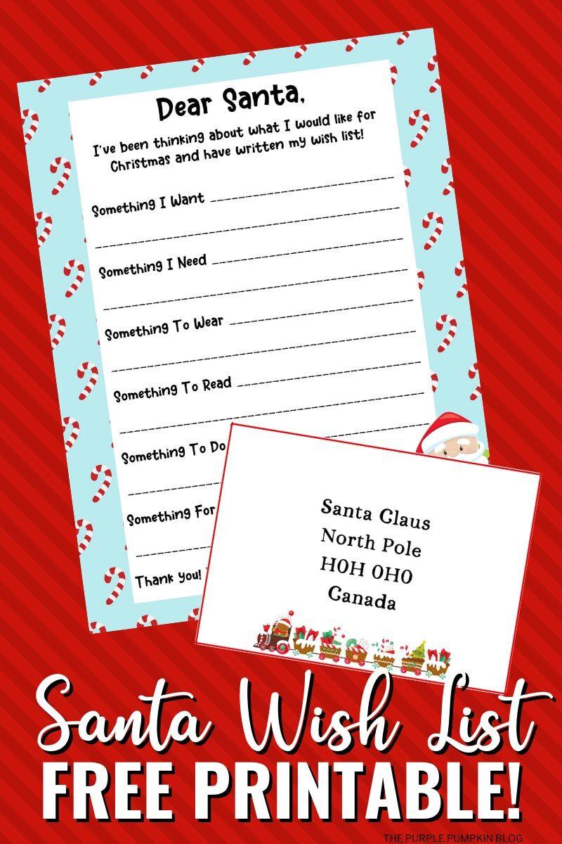 Santa Wish List Free Printable Letter