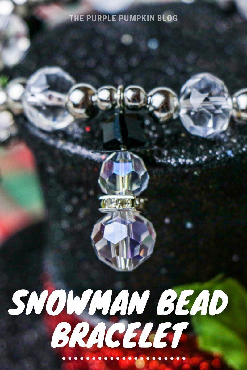 Snowman Bead Bracelet