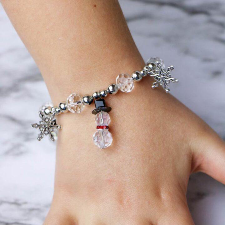 Snowman Bead & Charm Bracelet