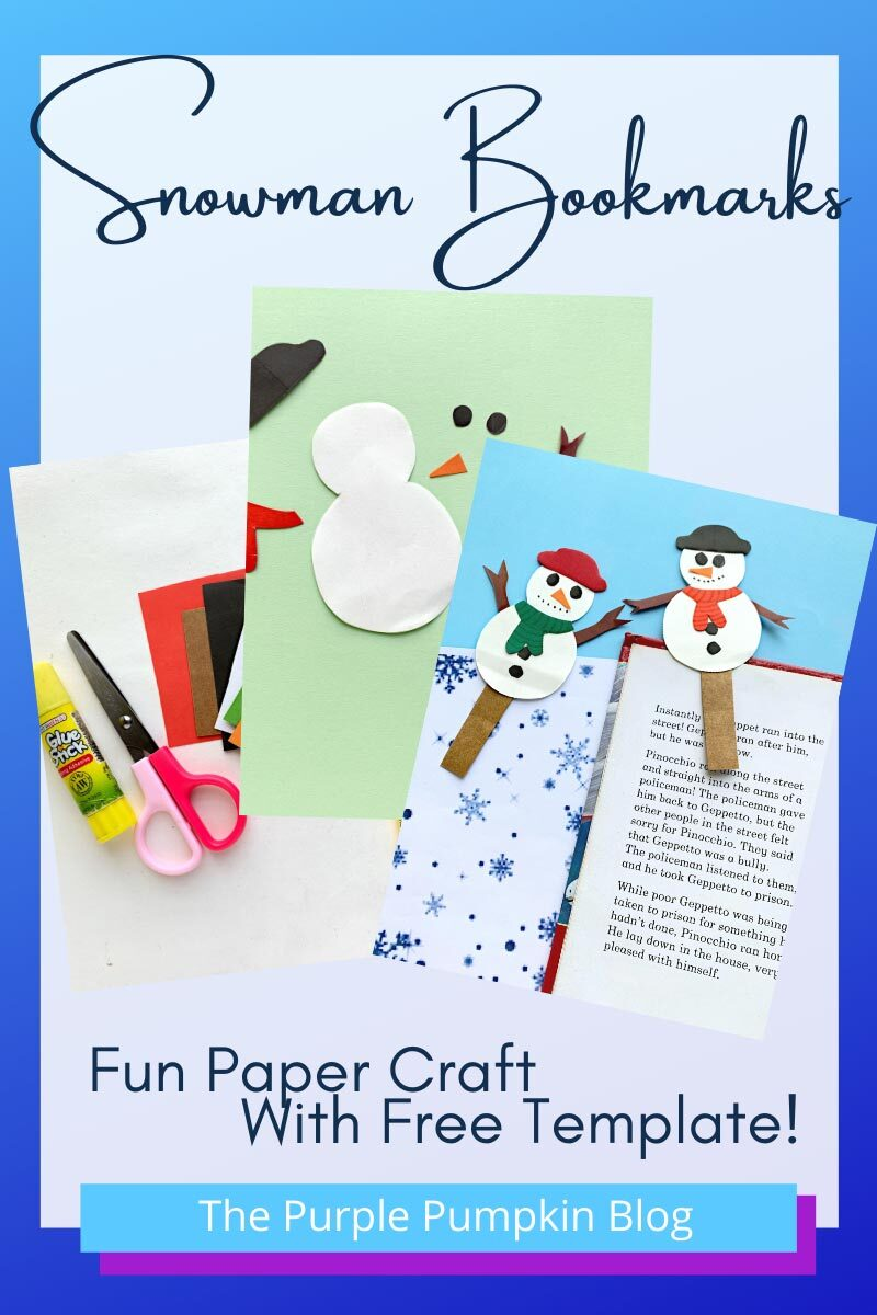 Snowman Bookmarks - A Fun Paper Craft with Free Template