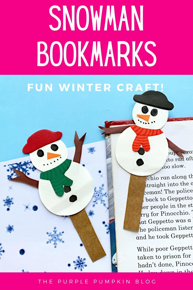Snowman Bookmarks Fun Winter Craft
