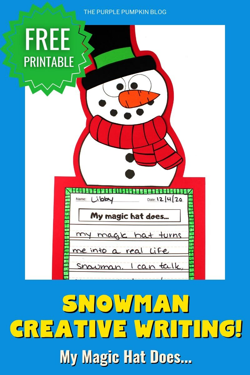 Snowman Creative Writing Project