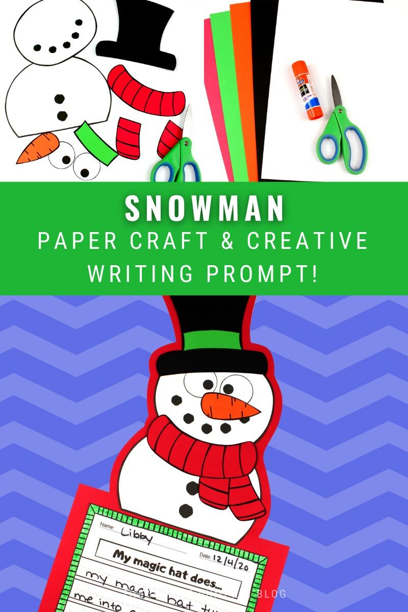 Snowman Paper Craft & Creative Writing Prompt