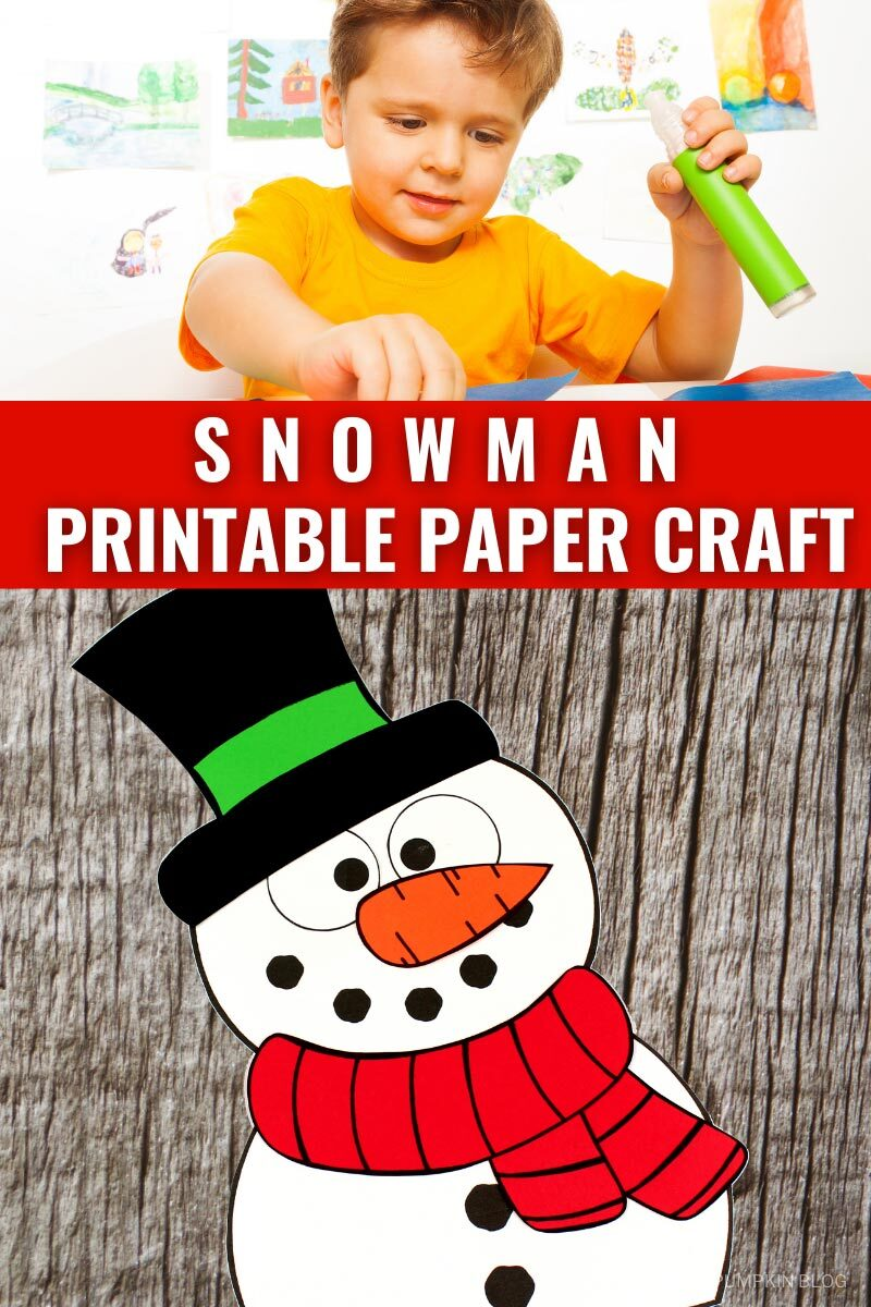 Snowman Printable Paper Craft