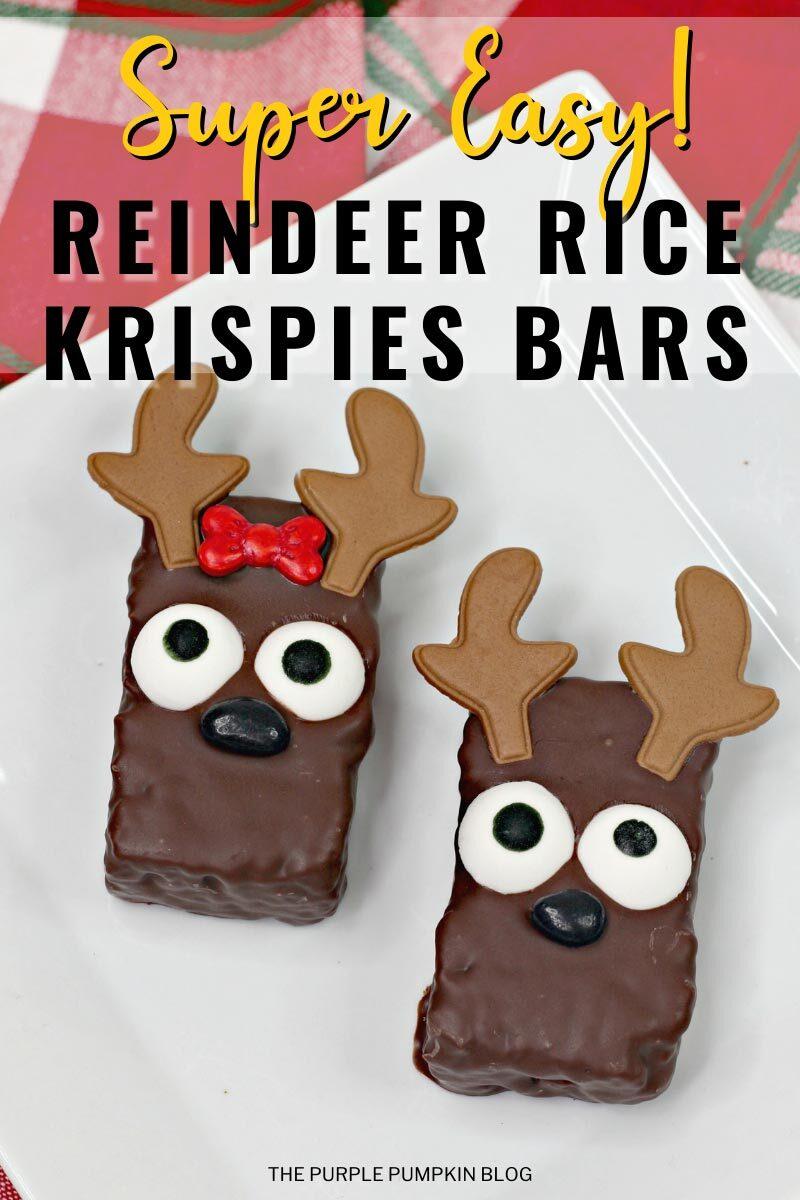Super Easy Reindeer Rice Krispies Bars