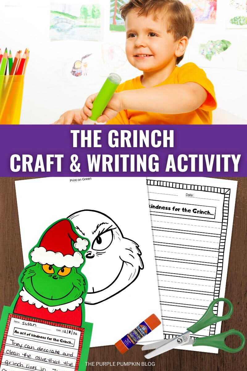 The Grinch Craft & Writing Activity
