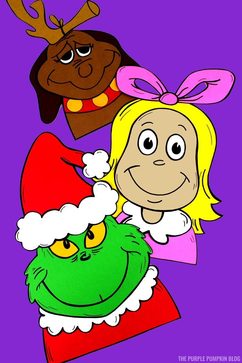 The Grinch, Max, & Cindy Lou Who Craftivites