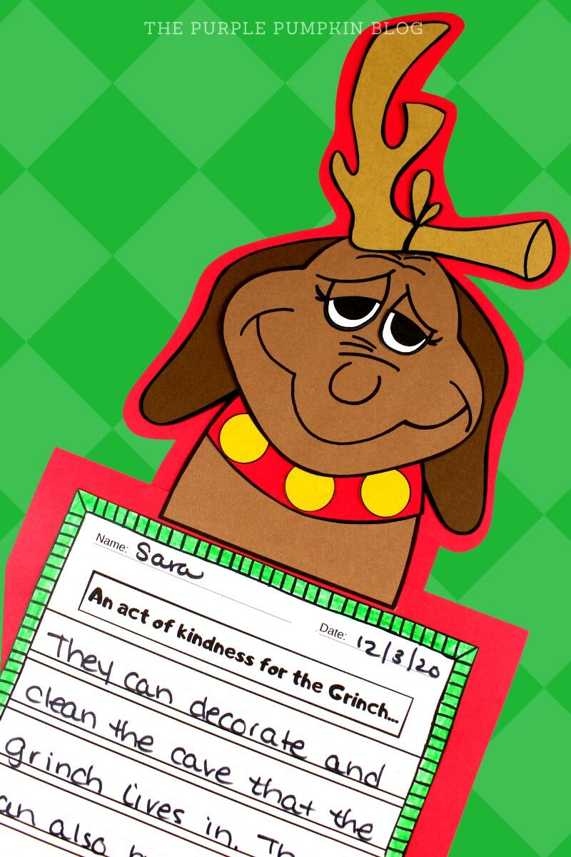 The Grinch Max Dog Paper Craft & Writing Project