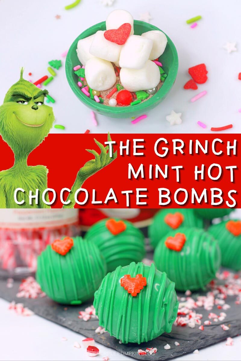 The Grinch Mint Hot Chocolate Bombs Recipe