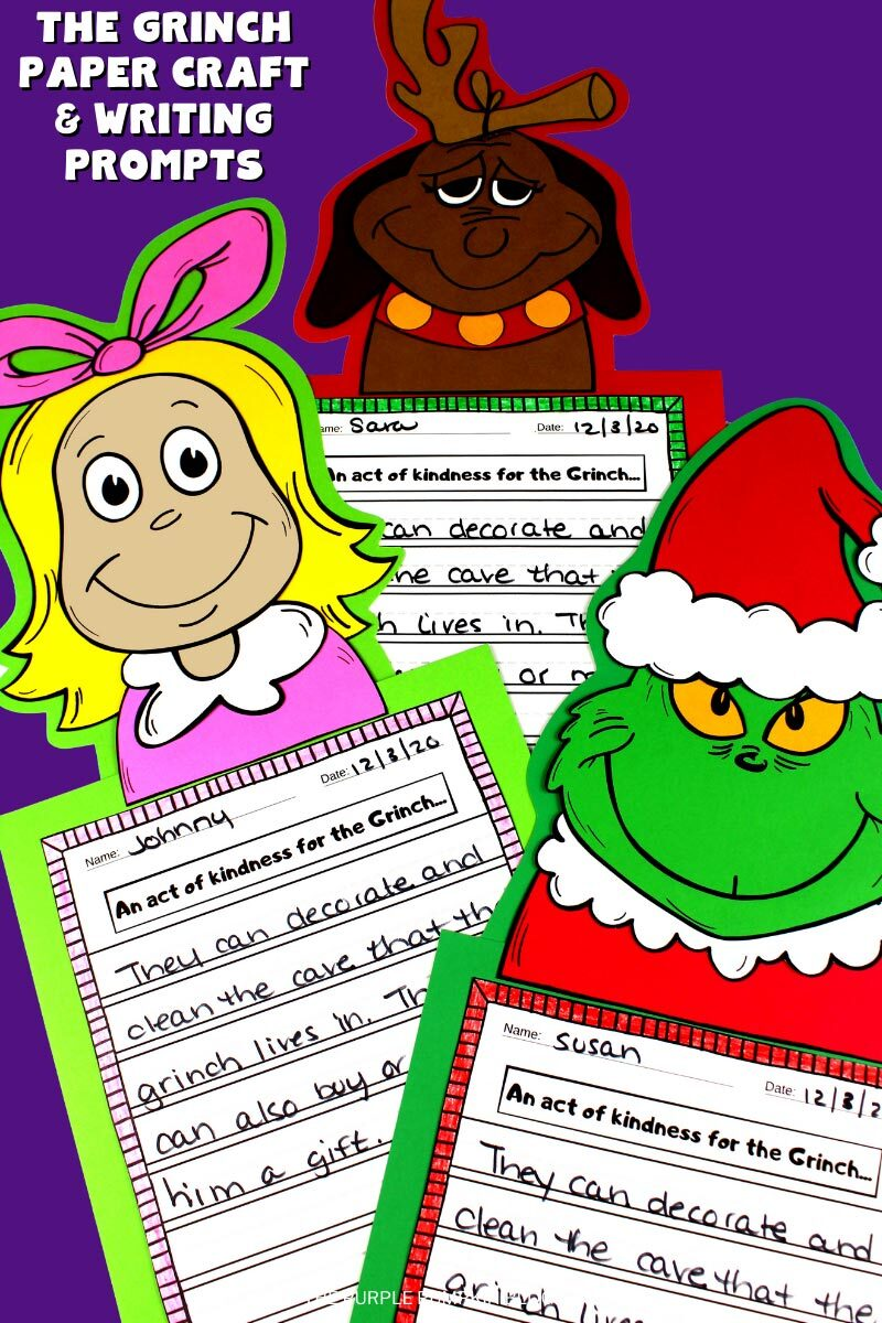 The Grinch Paper Craft & Writing Prompts