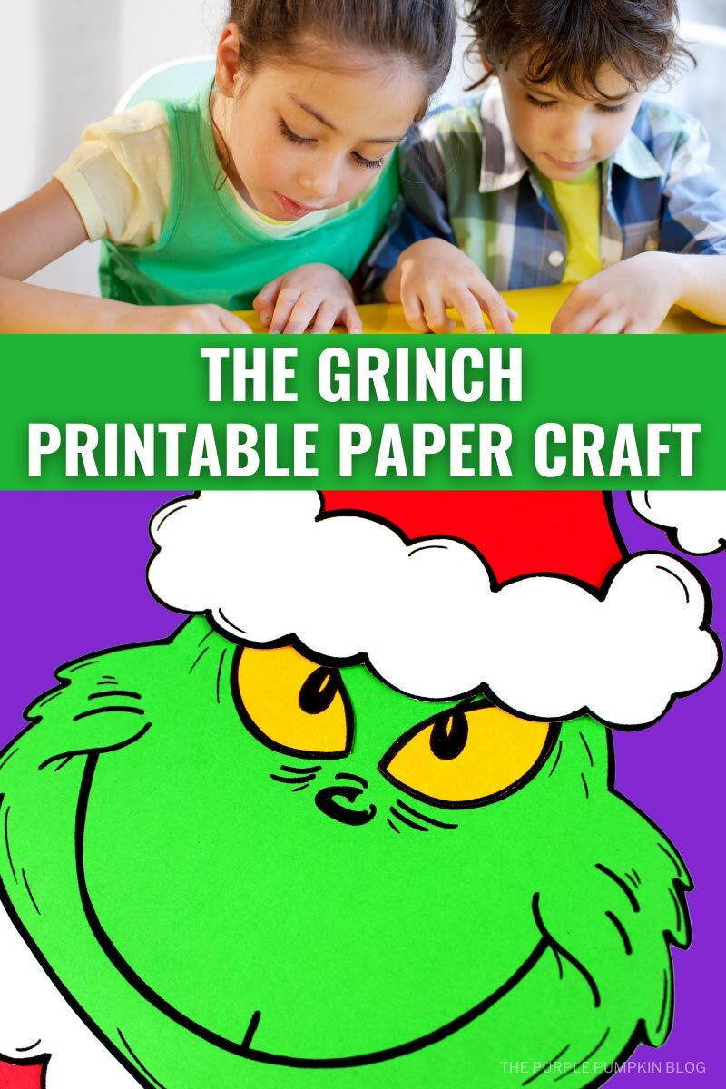 The Grinch Printable Paper Craft