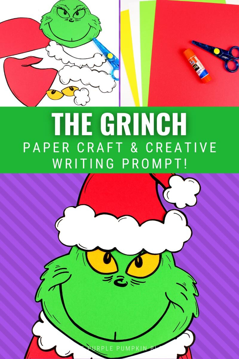 The Grinch Paper Craft & Creative Writing Prompt