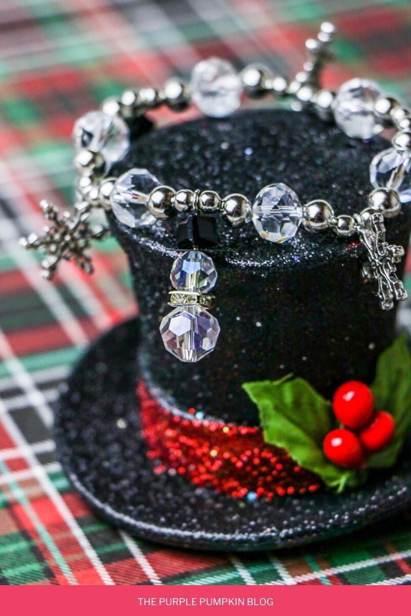 Winter Snowman Bead Bracelet Craft