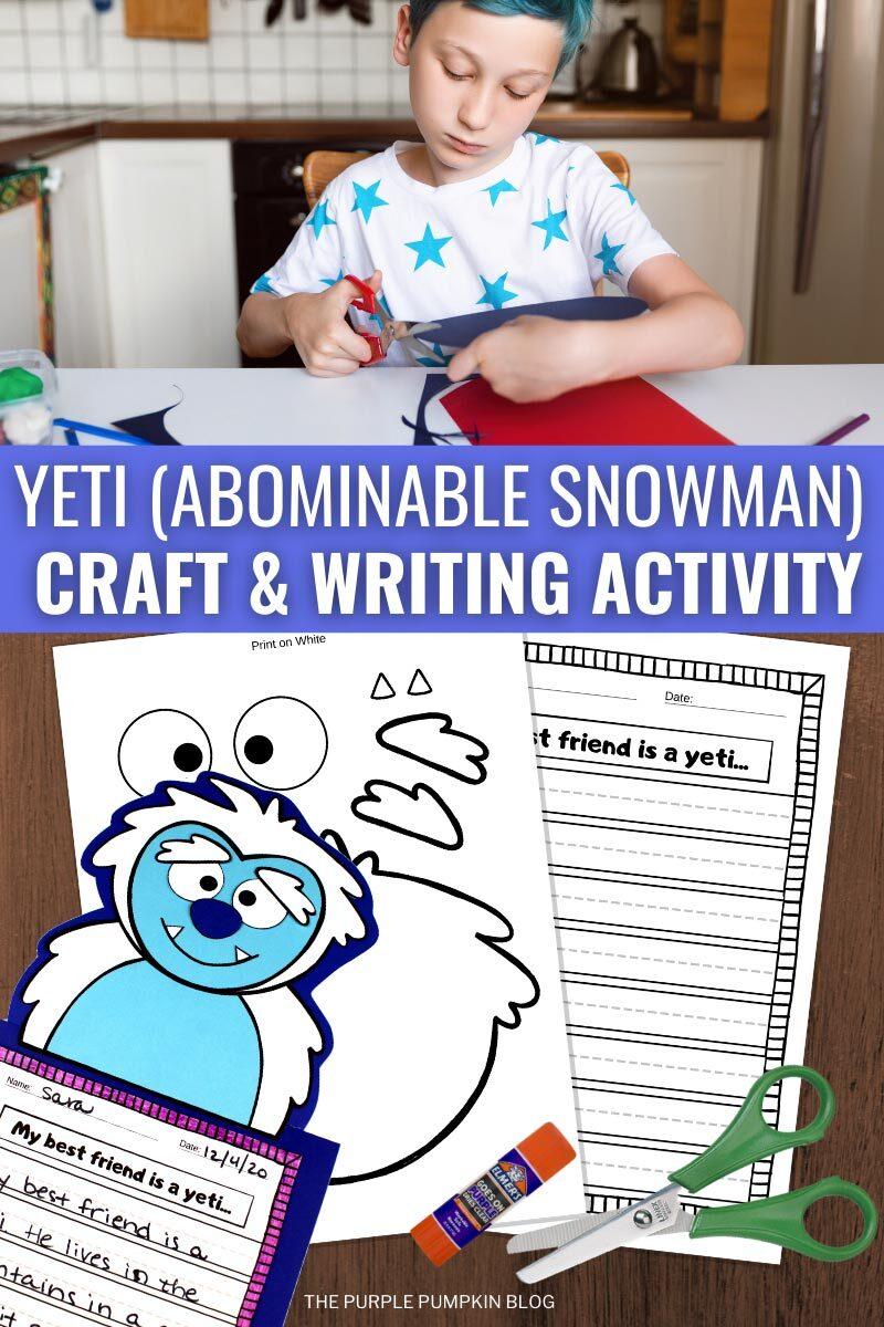 Yeti (Abominable Snowman) Craft & Writing Activity