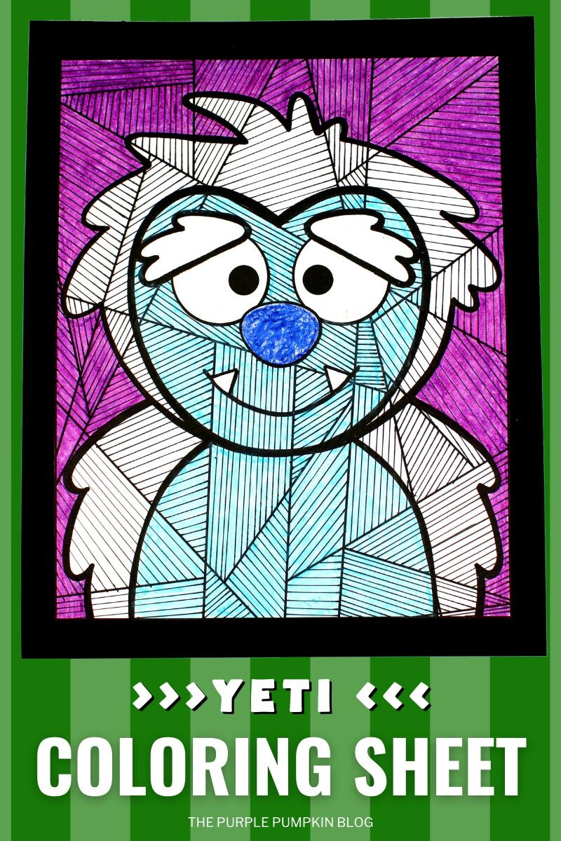 Yeti Coloring Sheet
