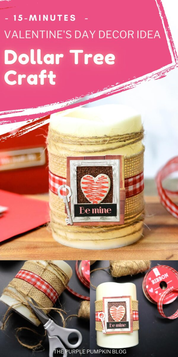 15-Minute Valentine's Day Dollar Tree Craft
