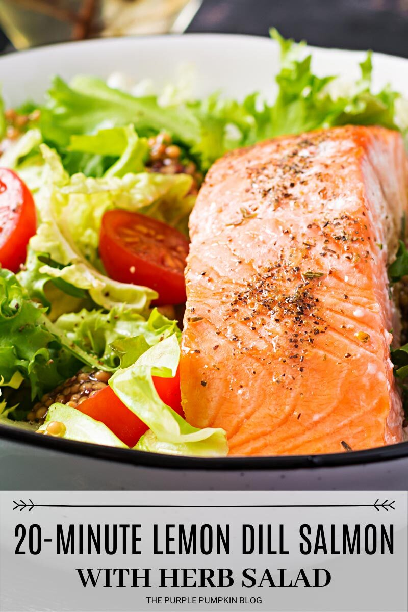 20-Minute Lemon Dill Salmon with Herb Salad