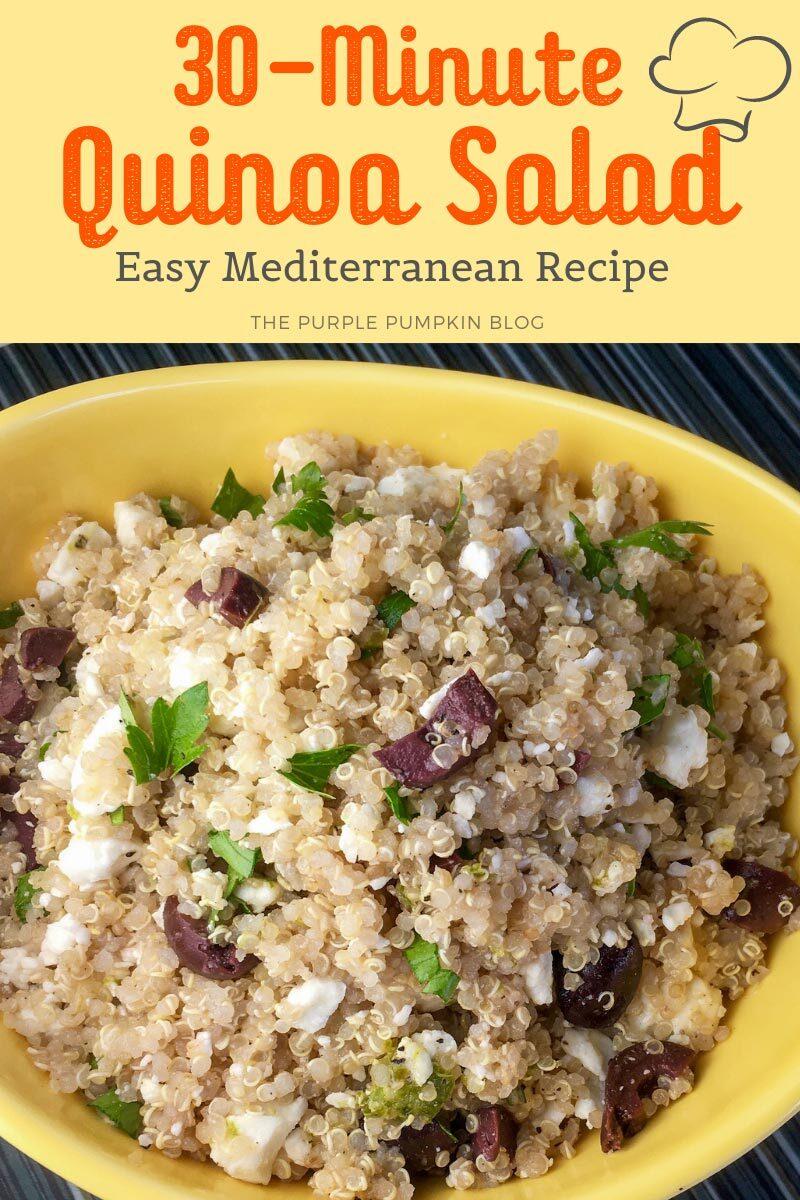 30-Minute Quinoa Salad Recipe
