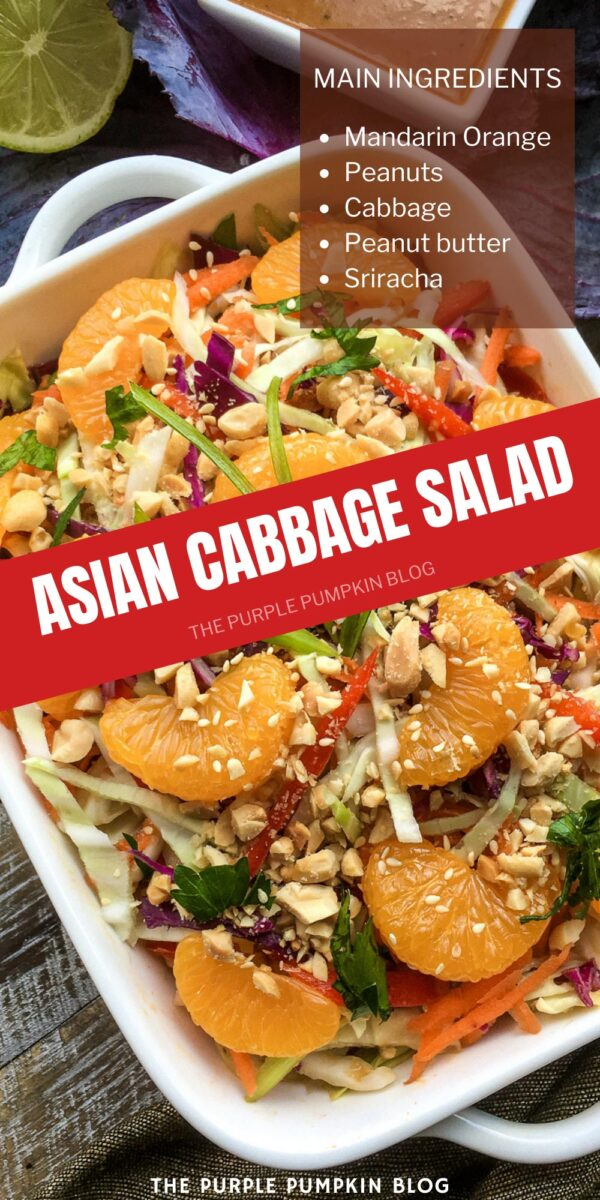 Asian Cabbage Salad with Mandarin Oranges