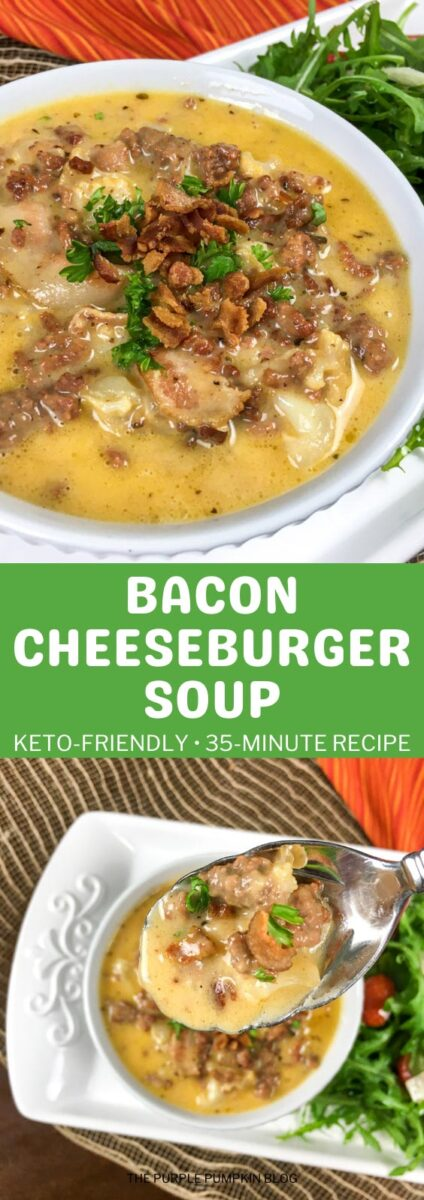 Bacon Cheeseburger Soup in 35 Minutes