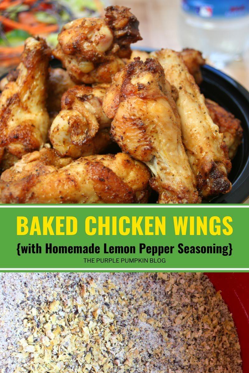 Baked Chicken Wings with Homemade Lemon Pepper Seasoning