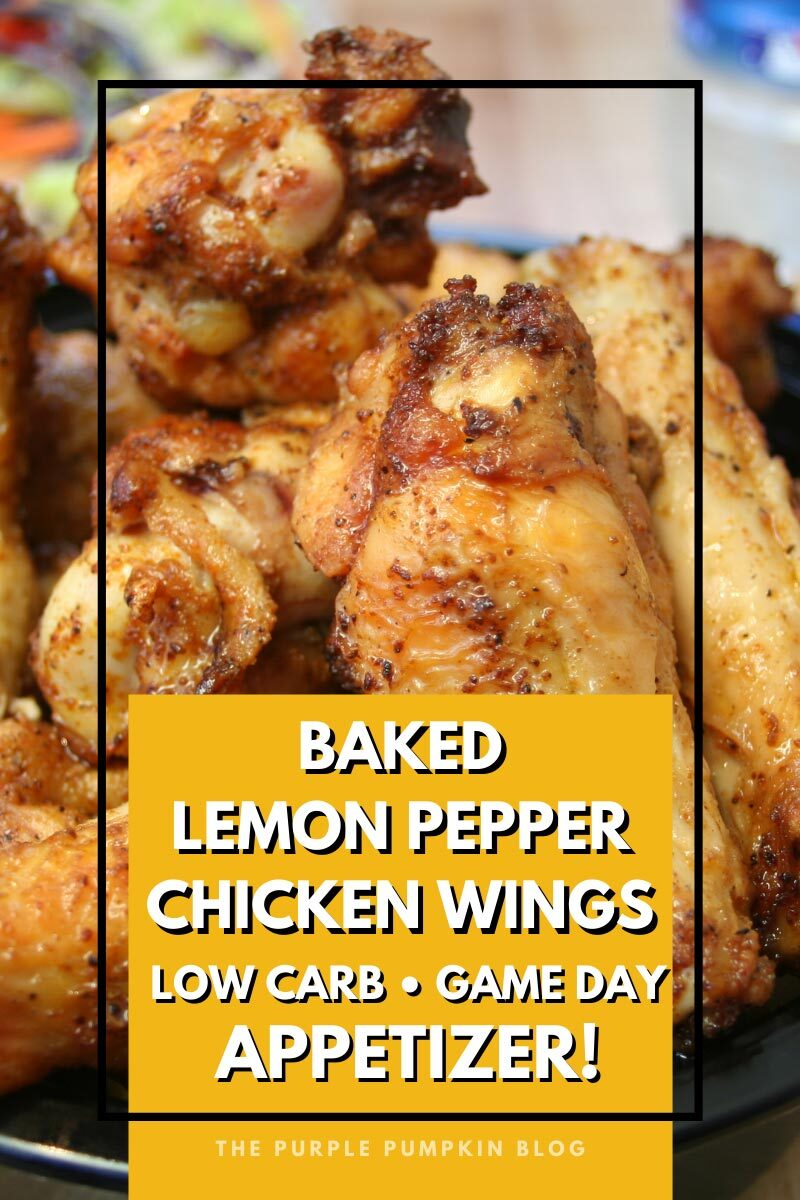 Baked Lemon Pepper Chicken Wings - Low-Carb Game Day Appetizer!