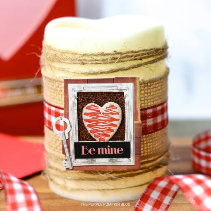 DIY Valentine's Day Candle