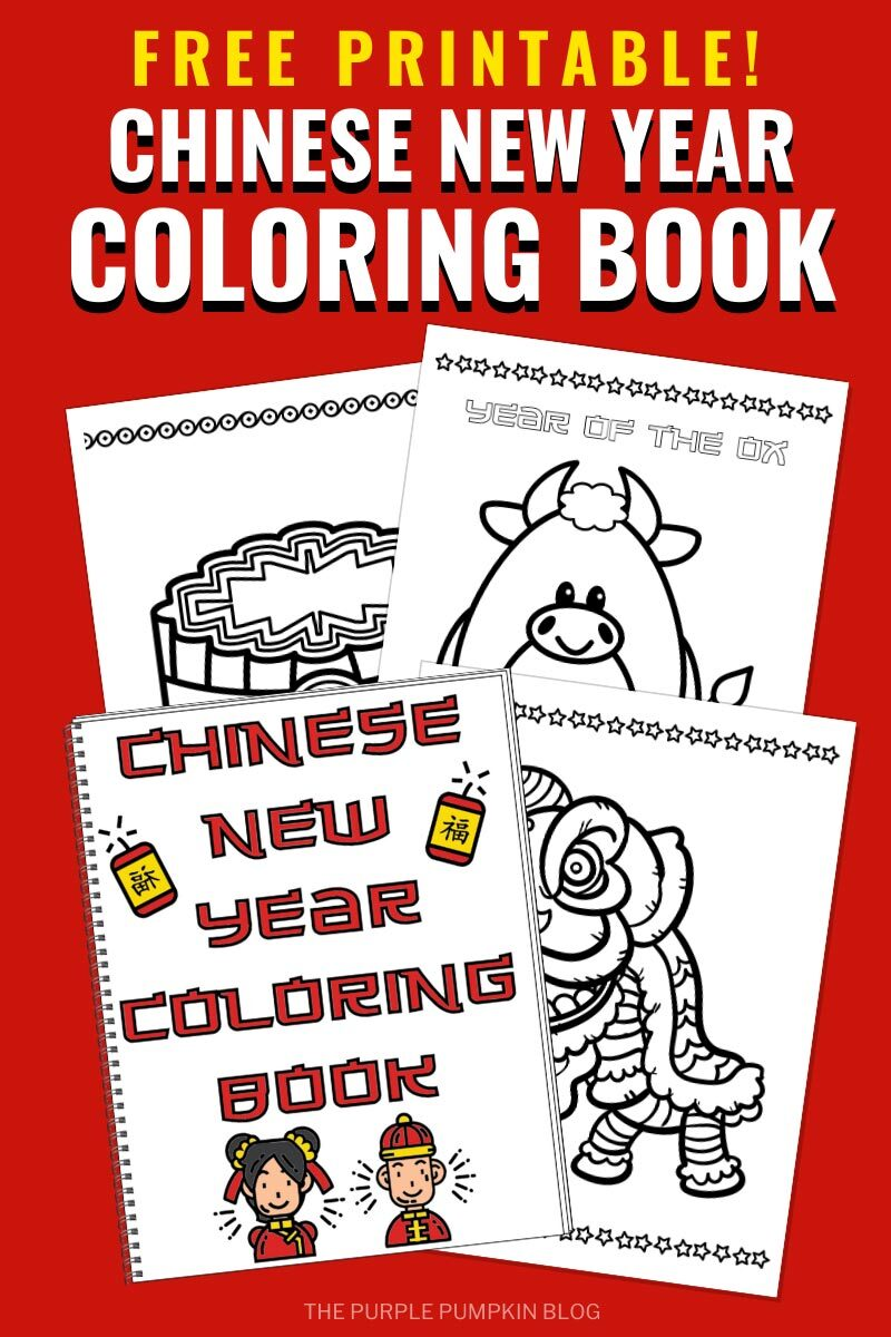 Free Printable Chinese New Year Coloring Book